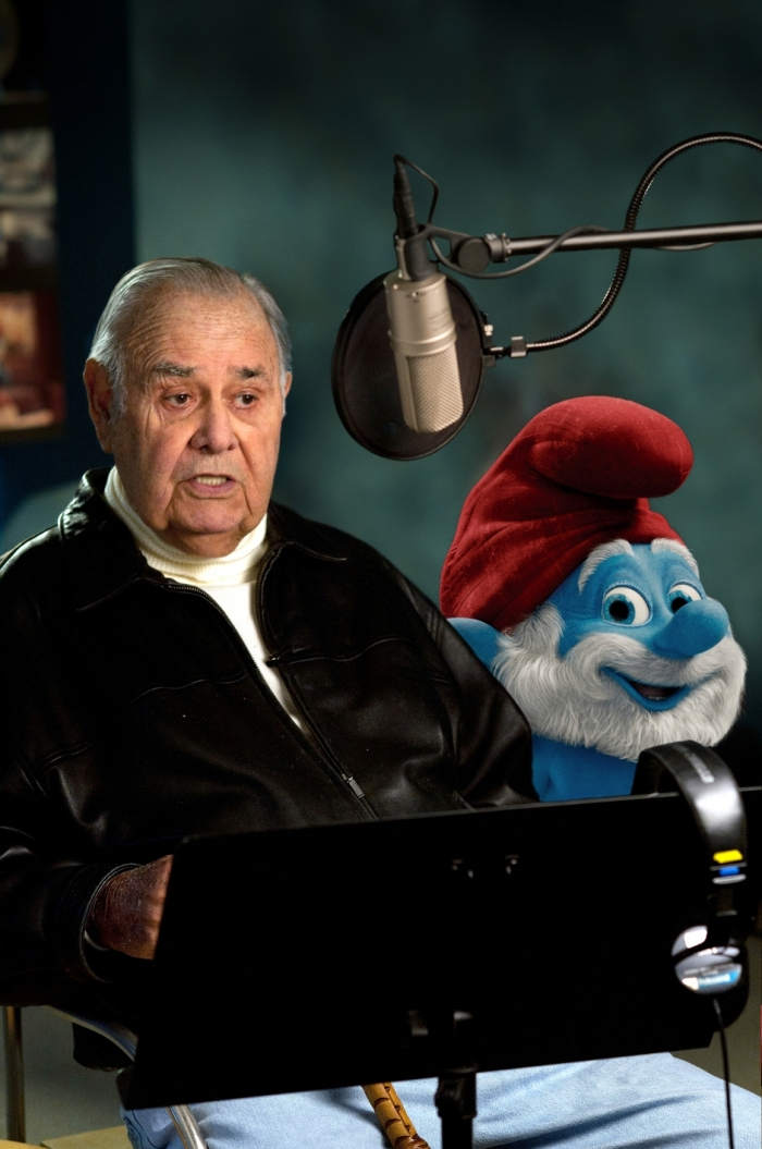"Jonathan Winters voices ""Papa Smurf"" in Columbia Pictures' THE SMURFS."