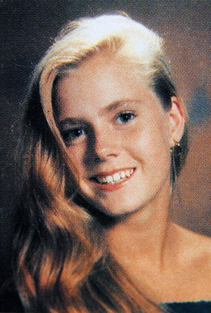 Amy Adams yearbook photos from Douglas County High School in Colorado