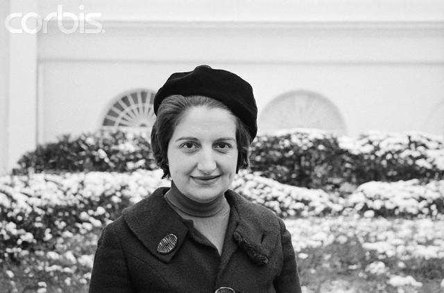 Helen Thomas Standing Outside