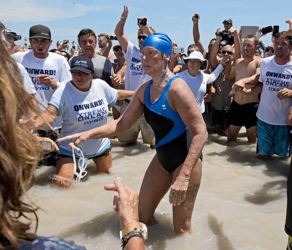Diana Nyad swims from Cuba to Florida