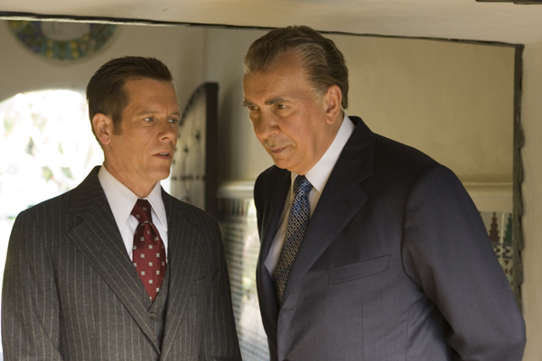 Frost Nixon movie image Frank Langella and Kevin Bacon