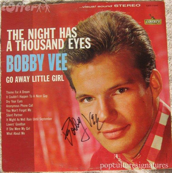bobby-vee-autograph-signed-lp-record-album-b436