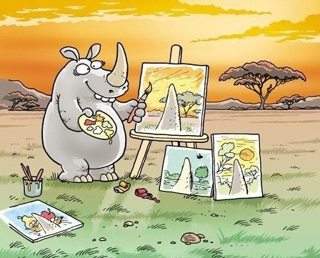 Funny-Cartoon-Poor-Rhinoceros