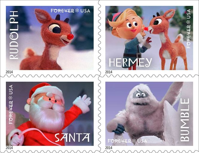 claymation-rudolph-the-red-nosed-reindeer-stamps
