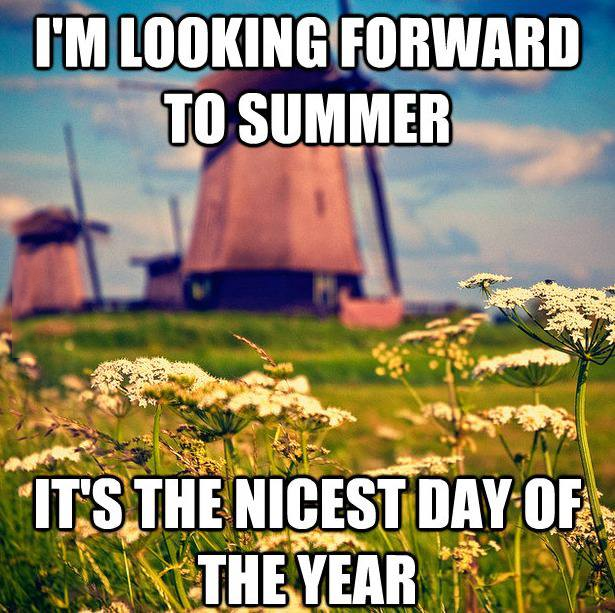 I'm looking forward to summer it's the nicest day of the year dr heckle funny memes